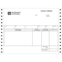 Credit Memo,Continuous Forms