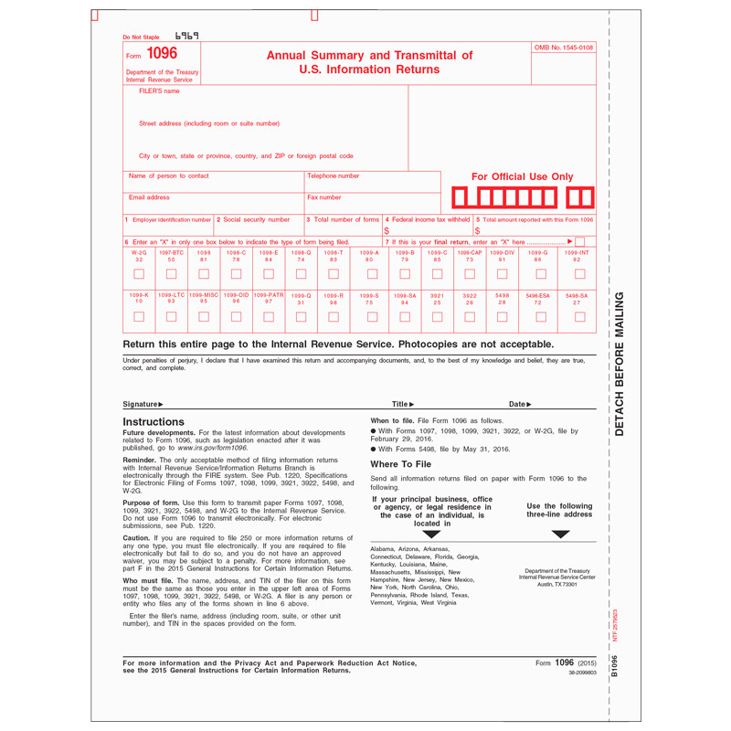Laser  Annual Summary  Transmittal  Sage Checks And Forms