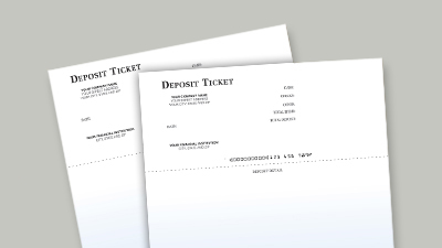 Printable Deposit Tickets
