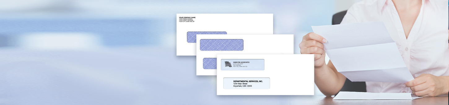 Don't forget security envelopes. Get compatible security tinted envelopes for your checks and forms - Shop Envelopes